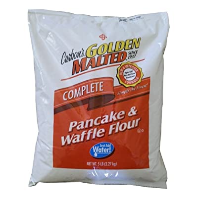(2 bags 5 lb each 10 lb)Carbon's Golden Malted Pancake and Waffle Flour Mix : Grocery & Gourmet Food