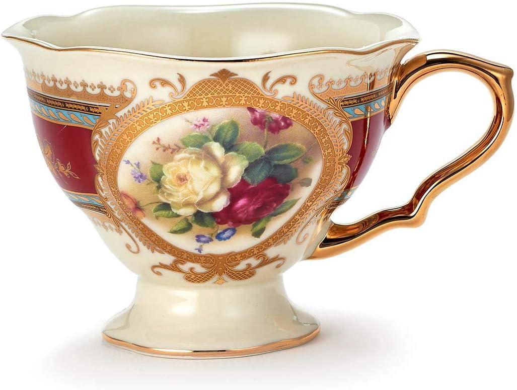 Amazon.com  Euro Porcelain 6-pc. Vintage Tea Coffee Cup Dining