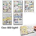 Deluxe 2 Sheet 96 Die Cut Decor Vinyl for Laptop Random Emoji Stickers by Thailand