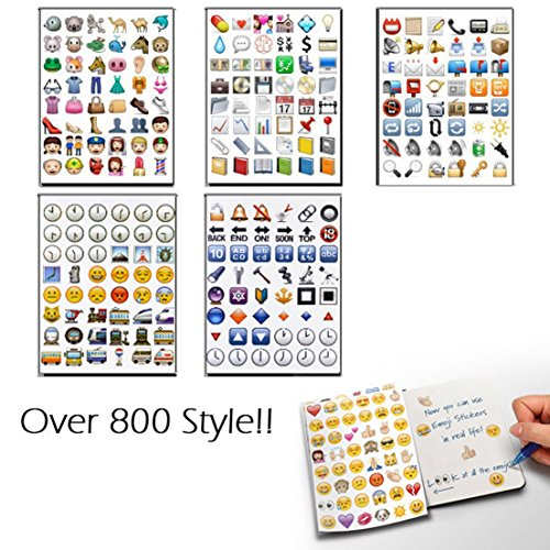 Deluxe 2 Sheet 96 Die Cut Decor Vinyl for Laptop Random Emoji Stickers ()