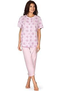 Comtessa Damen 100/% Baumwolle Schlafanzug Pyjama orange Gr.40 bis 52 Neu