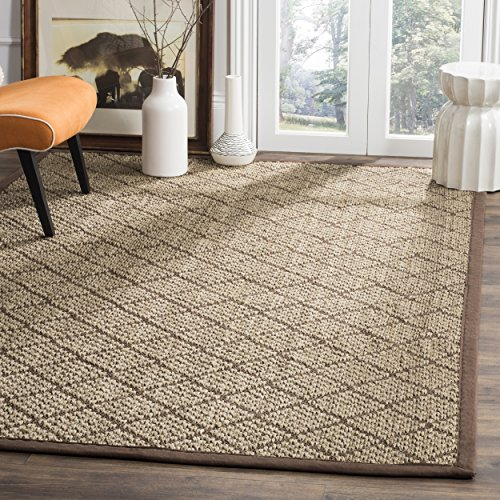 Safavieh Natural Fiber Collection NF155A Natural and Brown Area Rug, 6 x 9