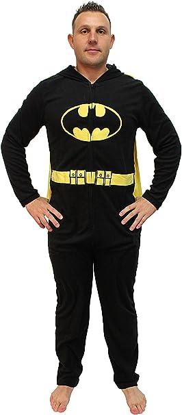 DC Comics - Disfraz de Batman con Capucha para Adulto - Negro ...