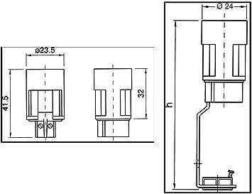 65 mm blanca con portal/ámparas E14 con soporte Faeg falsa vela termopl/ástica H
