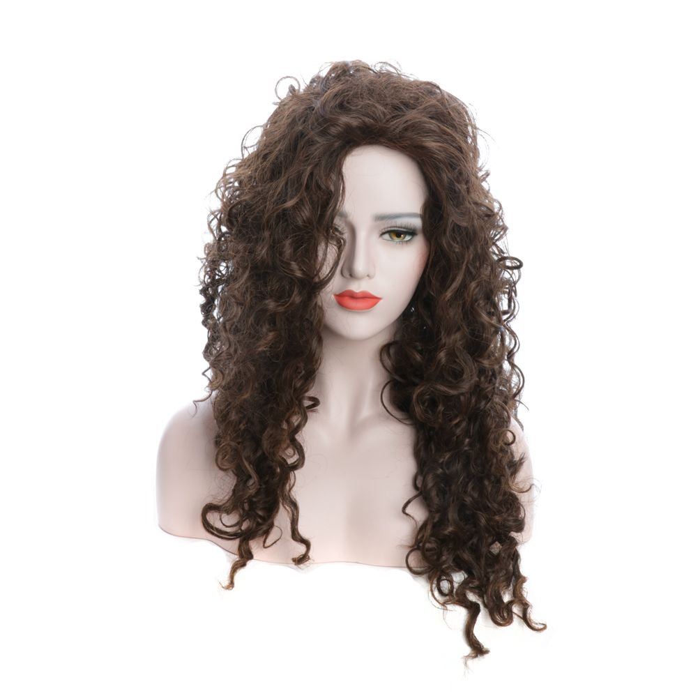 Karlery 26 Inches Women's Brown Fluffy Loose Wave Fashion Wigs Anime Cosplay Party