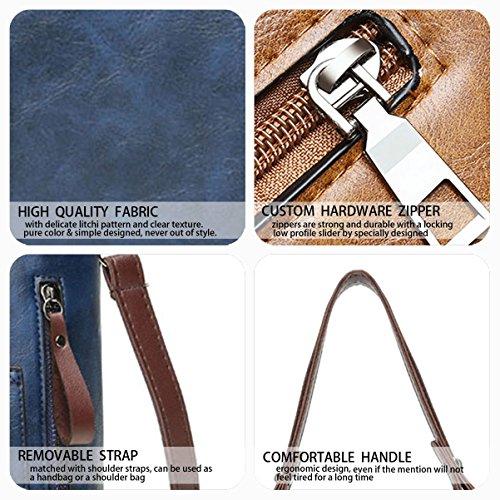 Azul bandolera Bolsos y bolsos Carteras clutches Mujer de Shoppers y de mano hombro O7wq5FYa