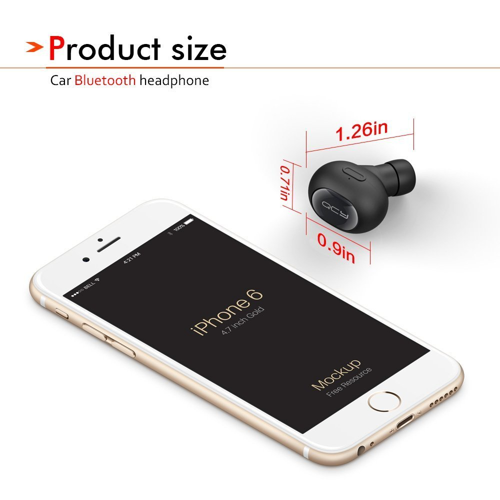QCY QY8 inalámbrico deportes BT4.1 auriculares estéreo auriculares auricular con micrófono para iPhone Samsung Smartphones: Amazon.es: Electrónica