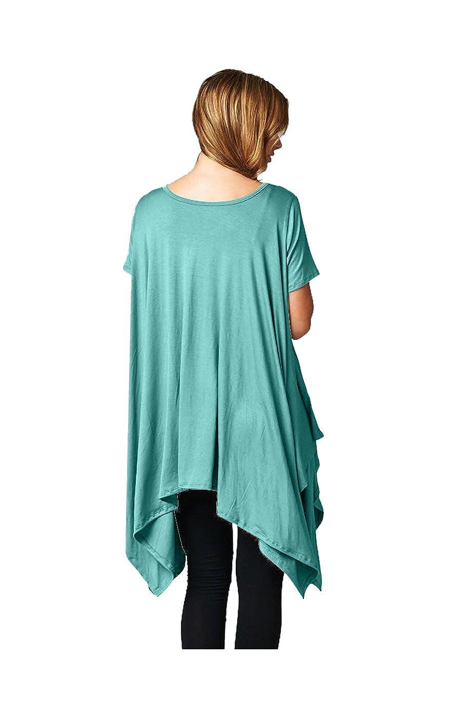 a485d57d 2LUV Mujer 3/4 Manga túnicas de a-line vestido Verde verde menta ...