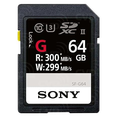 Sony 64GB UHS-II SD Memoria Flash SDXC Clase 10 - Tarjeta de Memoria (64 GB, SDXC, Clase 10, UHS-II, Negro)