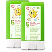 Babyganics Travel Size Sunscreen Stick 50 SPF, 2 Pack, Packaging May Vary