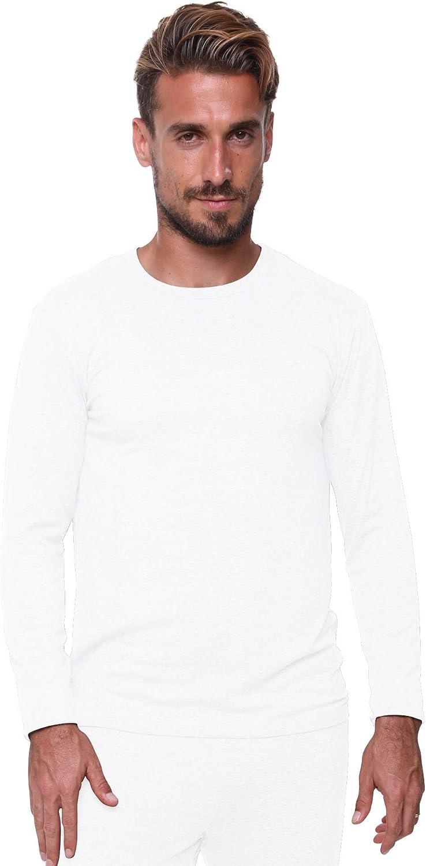 Men's Thermal Top Lightweight Ultra Soft Fleece,Base Layer, 2XL-White