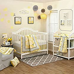 Stella 4 Piece Flower for Baby Girl Crib Bedding Set by The Peanut Shell