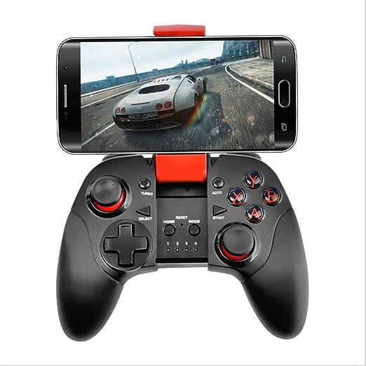 RAPLANC Controlador de Juegos Android, Controlador de Juegos de teléfono inalámbrico Bluetooth con Soporte de Soporte Ajustable para Android/tabletas/PC televisores Inteligentes/Cajas de TV,Negro: Amazon.es: Hogar