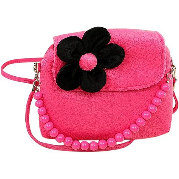 Children Girls Princess Flowers Purses Shoulder Messenger Bags Kids Handbag ZF