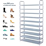 Shoe Tower Cabinet Storage Holds up to 18 Pairs of Shoes Azadx 6 Tiers Shoe Rack No Tools Required DIY Assembly Shoe Organizer with Non-Woven Fabric