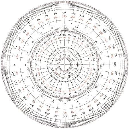 Uchida Full Circle Protractor 12cm 1-822-0000