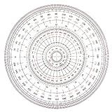 Uchida full circle protractor 18cm 1-822-0002