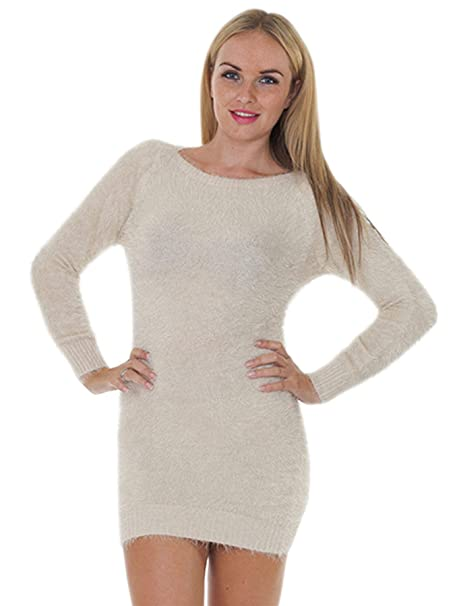 footwear new design enjoy big discount Love My Fashions® Womens Stretchable Bodycon Crew Neck Sweater Ladies Plain  Fluffy Long Sleeve Top Ribbed Cuffs Hem Casual Loose Tunic Boat Neck ...