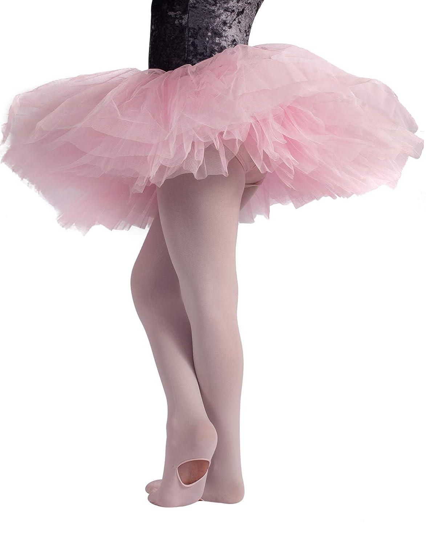 CALZITALY Collant Convertibile Danza Bimba | Calze Ballet | Rosa | 80 Den | Da 4 A 14 Anni | Calzeteria Italiana | 0132