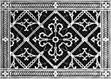 """Decorative Grille, Vent Cover, or Return Register. Made of Urethane Resin to fit over a 8''x12'' duct or opening. Total size of vent is 10""""x14''x3/8'', for wall and ceiling grilles (not for floor use)."""