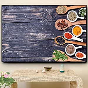 NIMCG Frutas Verduras Cereal Especias Cuchara Cocina Cocina ...