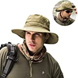 Peicees Fishing Hat Summer Sun Bonnie Hat UPF 50+ UV Protection Wide Brim Cap Waterproof Safari Adventure Camping Hiking Hunting Travel Beach Bucket Hat for Men Women Boys and Girls