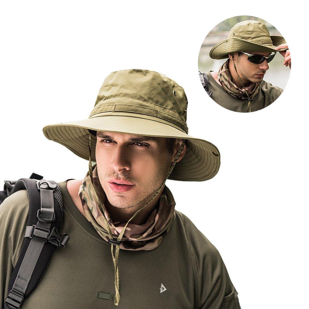 47bd2ebd585086 Peicees Fishing Hat Summer Sun Bonnie Hat UPF 50+ UV Protection Wide Brim  Cap Waterproof Safari Adventure Camping Hiking Hunting Travel Beach Bucket  Hat for ...