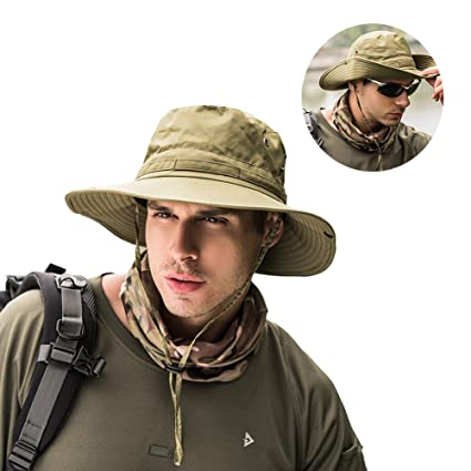 f07030fa34a Peicees Fishing Hat Summer Sun Bonnie Hat UPF 50+ UV Protection Wide Brim  Cap Waterproof Safari Adventure Camping Hiking Hunting Travel Beach Bucket  Hat for ...