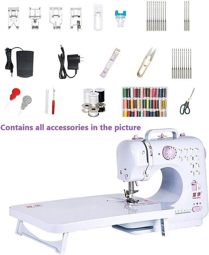 Máquina de coser eléctrica, máquina portátil básico de costura con ...