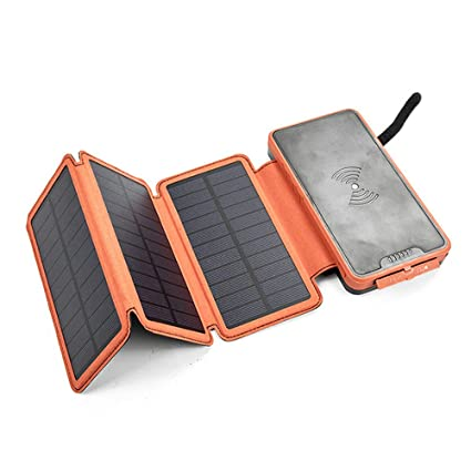 WANQY Cargador Inalámbrico Solar Power Bank, 20000mAh ...