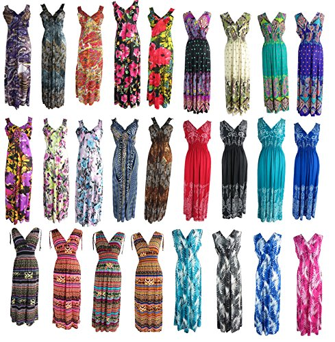 wholesale lot of 25 long dress / maxi sundress / beach dress / vacation dress -