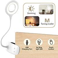 Lampara Escritorio, Bteng 28 LEDs Lampara Lectura Flexo Pinza con 3 Modos de Brillo e Intensidad Protección para Los Ojos Mesa para Estudio USB luz de Lectura Infantil