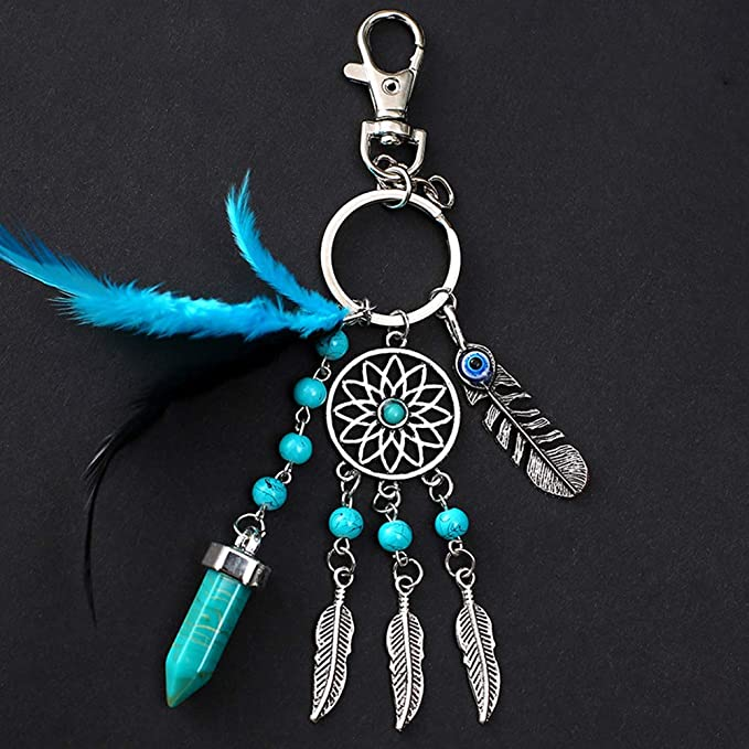 Amazon.com: Dsaren Dream Catcher Keychain Boho Dreamcatcher ...