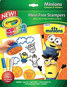 Amazon Crayola Color Wonder Stampers Minions Toys