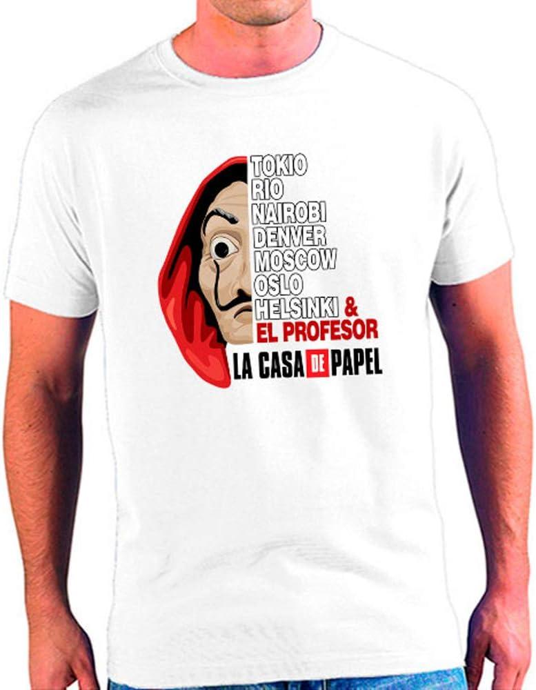 Mx Games Camiseta La Casa de Papel, Máscara Dalí con Personajes (XL): Amazon.es: Juguetes y juegos
