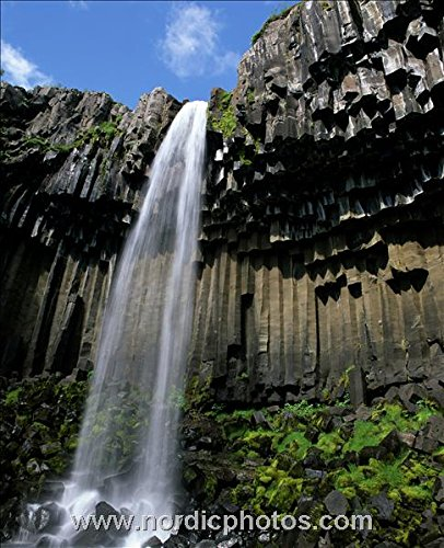 Waterfall, Svartifoss, Iceland 30x40 photo reprint by PickYourImage