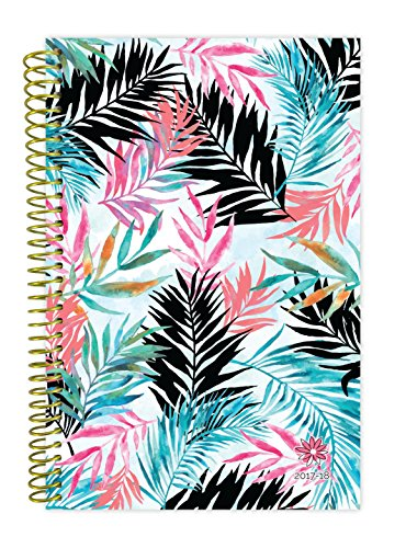"bloom daily planners 2017-18 Academic Year Daily Planner - Passion/Goal Organizer - Monthly and Weekly Datebook and Calendar - August 2017 - July 2018 - 6"" x 8.25"" - Tropical"