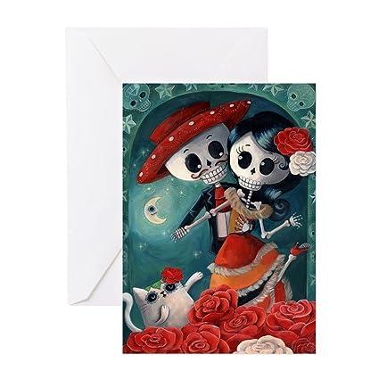 Amazon cafepress dia de los muertos mexican lovers greeting cafepress dia de los muertos mexican lovers greeting cards greeting card note card m4hsunfo