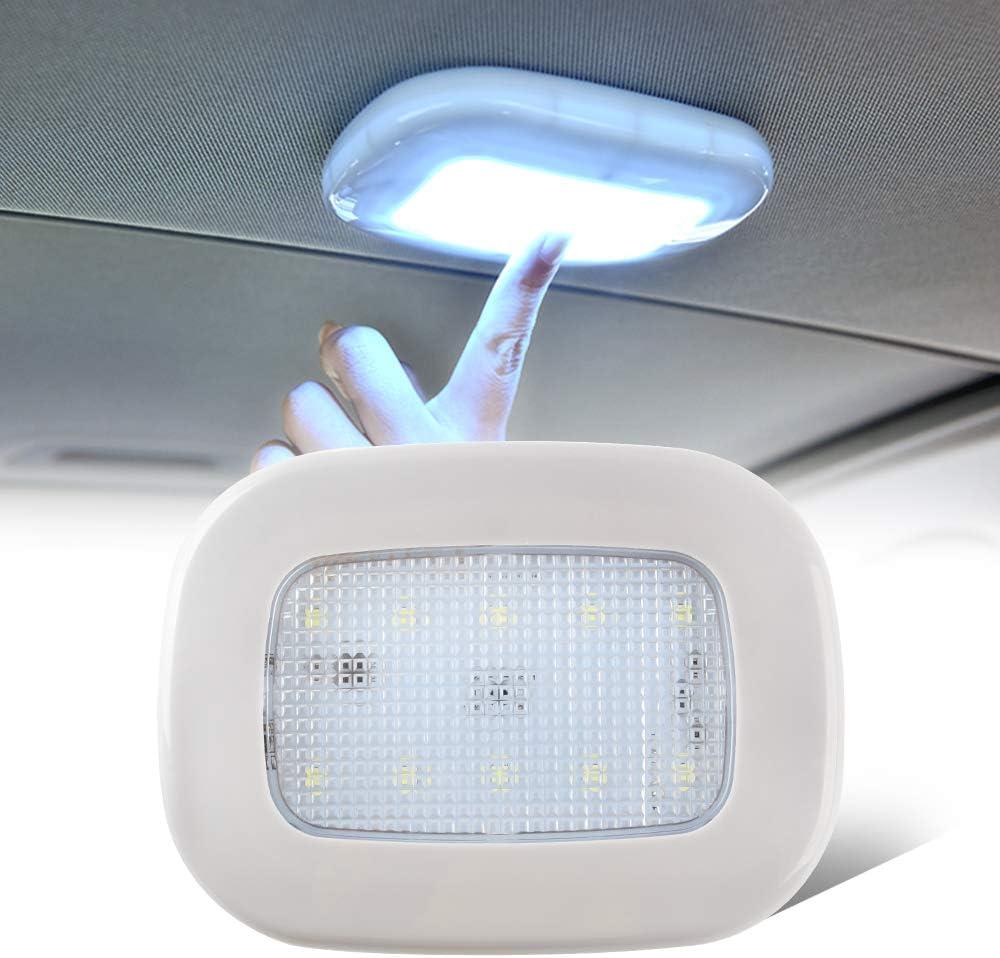Giallo Caldo e Blu Ghiaccio KaiDengZhe Luci per Tettuccio Auto LED Plafoniera per Auto Ricaricabile USB Luce di carico Lampade da Parete Multifunzione per la Lettura Armadio Camera Letto Campeggio