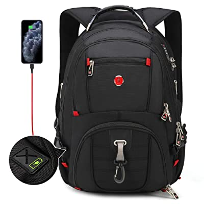 """Anti-theft Laptop Backpack with USB Charging Port /& Lock Travel Business Bag 16/"""""""