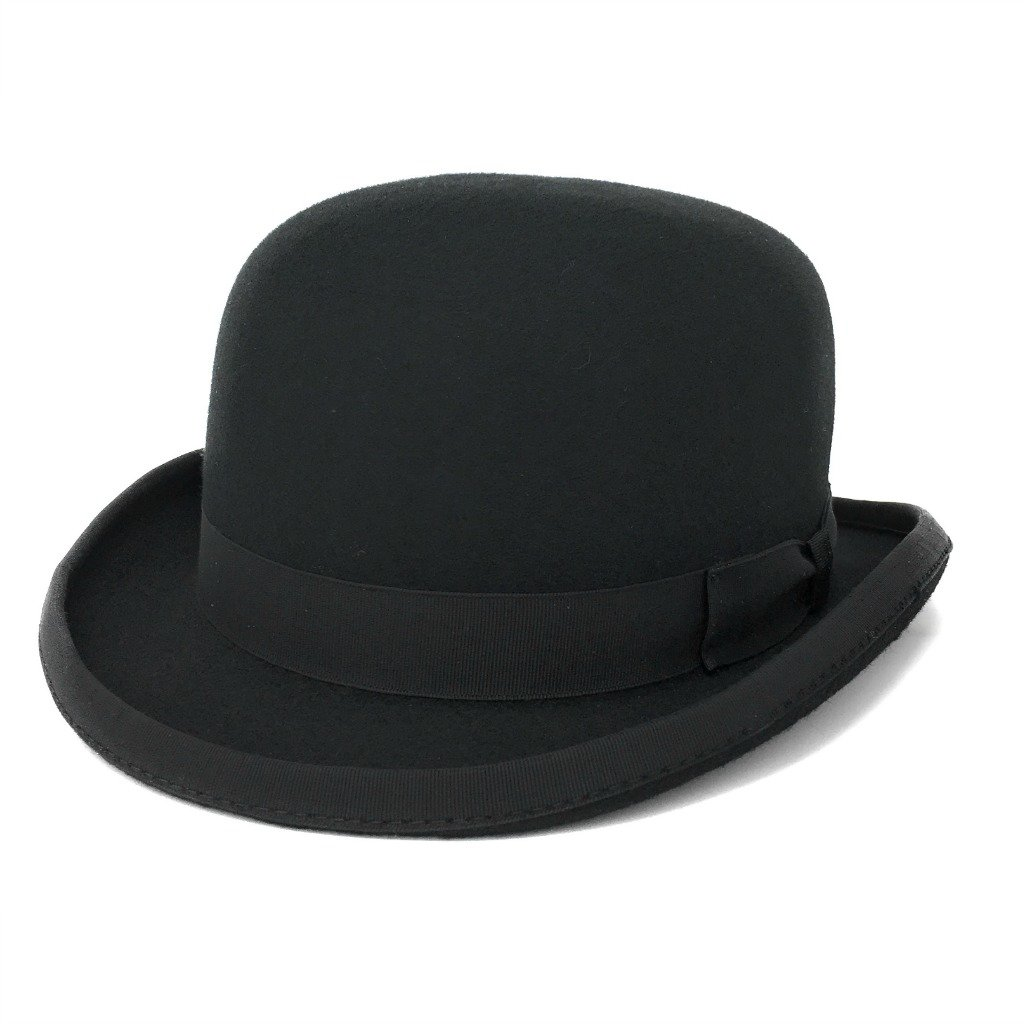 Cotswold Country Hats Luxury Stiff Build Traditional Wool Felt Bowler Hat. Satin Lined. British English Derby Bowler Hat