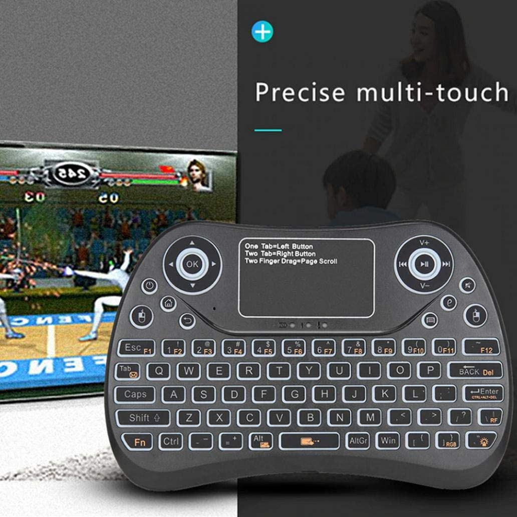 Multicolor scgtpapadc Bluetooth Wireless Keyboard Colorful Backlight Touchpad Bluetooth Air Mouse Wireless Keyboard for Smart TV