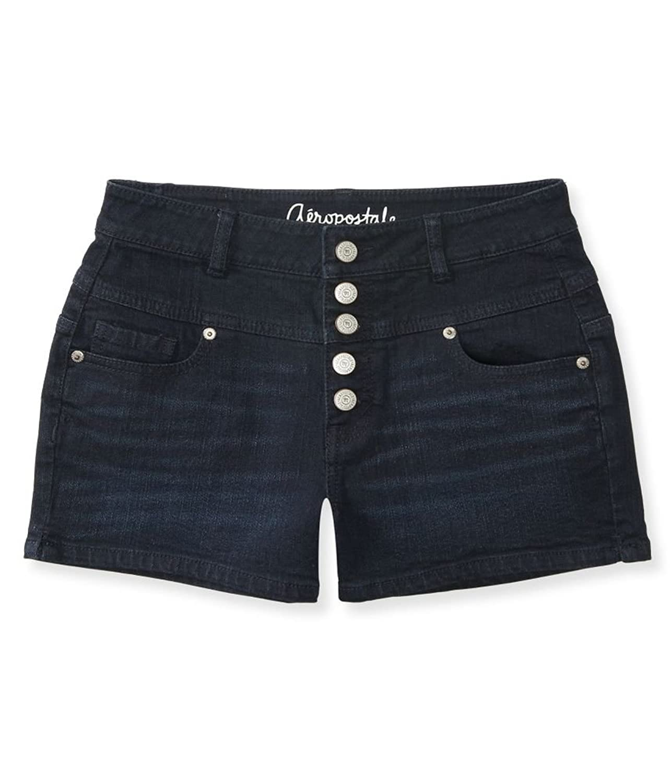 Aeropostale Womens Button Fly Shorty Casual Denim Shorts