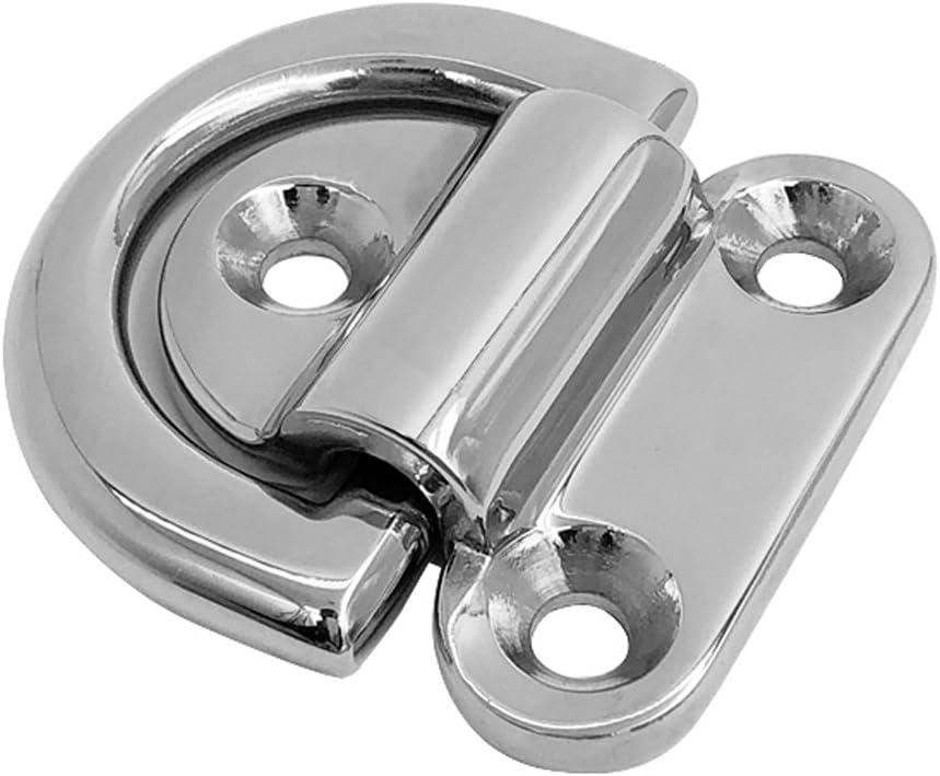 /Ösenplatte OPIOL QUALITY | Edelstahl A2 Wandhaken 1 St/ück Wirbel/öse Ringplatte Wand-Befestigung Augplatte mit Wirbel und Ring 40x40 mm