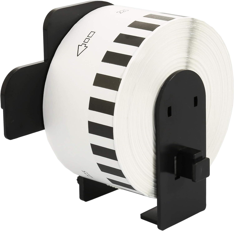 c/ódigos de Barras QL-1060N 600 Etiquetas por Rollo QL-1100 compatibles para Brother P-Touch QL-1050 30x DK-11240 102 x 51 mm Rollos de Etiquetas para env/íos QL-1110NWB Impresoras QL-1050N