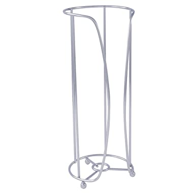 Freestanding Toilet Paper Holder by LDR | Holds Up to 3 Single Or Double Rolls, Elevated Base, Solid Metal Construction, Chrome Finish, No Assembly Required
