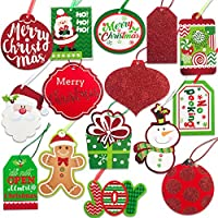Christmas Gift Tags tie on with string 60 Count (15...