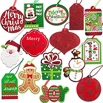 Amazon.com: Christmas Gift Tags 60 Count with Untied ...