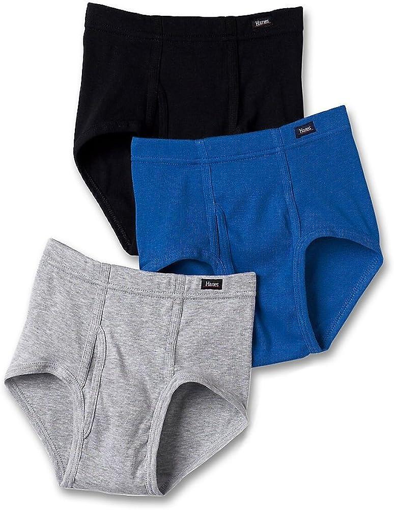Hanes Mens 6-Pack Cotton Tagless Briefs Assorted Colors Comfort Soft Size Medium