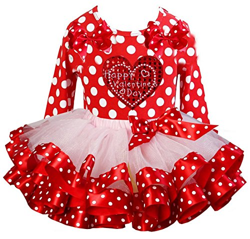 Kirei Sui Girls Pink Red Polka Dots Tutu Valentine's Day